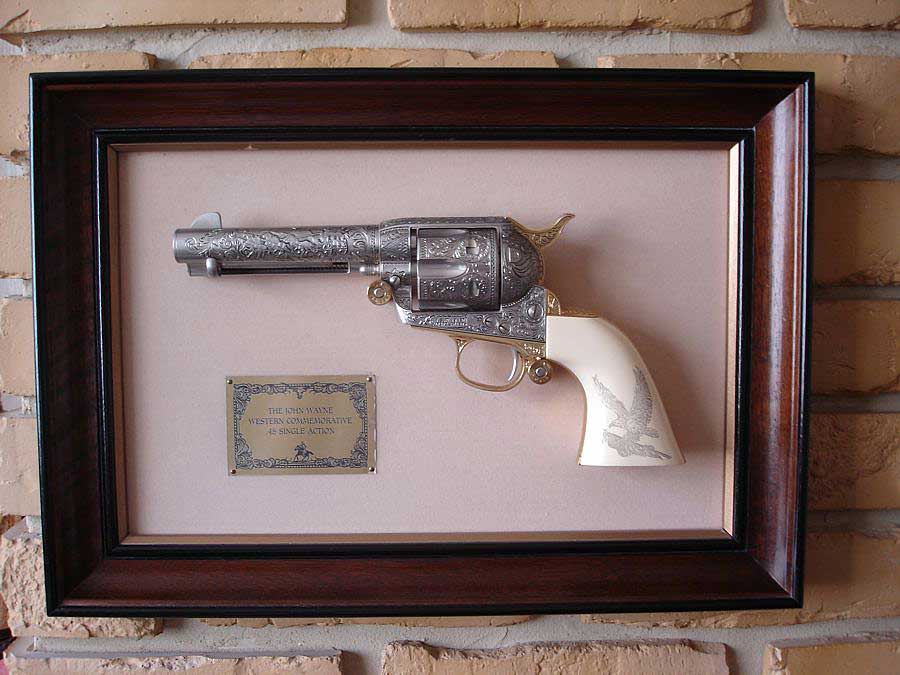 John Wayne Franklin Mint Commemorative Colt 45 Revolver