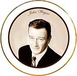 John Wayne plate by Cutting Edge Collectibles